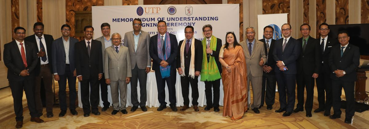 Signing of MoU between UTP Malaysia and CIT Kokrajhar on 19th November 2019